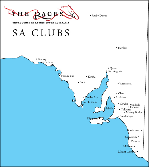 South Australian Clubs Map